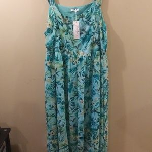 Women's long tropical dress